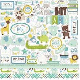 "Carta Bella / Echo Park / Classica Echo Park ""Hej Baby Girl"" 30,5 x 30,5 ""Element Stickers - Copy"