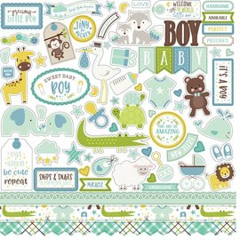 "Carta Bella / Echo Park / Classica Echo Park ""Hello Baby Girl"" 30,5 x 30,5 ""Element Stickers - Copy"