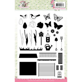 """AMY DESIGN Amy Design, Stamped Motif, Transparent, """"Spring is here"""""""