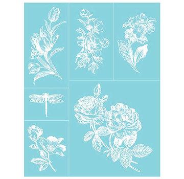 EK Succes, Martha Stewart Martha Stewart, Adhesive Silkscreens, 22 x 28 cm, 1 pcs