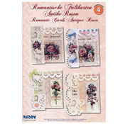 """BASTELSETS / CRAFT KITS Complete crafting kit: for 4 romantic folding cards """"antique roses"""" A6"""