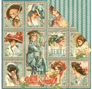 "GRAPHIC 45 Kort og scrapbooking papir, 30,5 x 30,5 cm, ""My Fair Lady"""