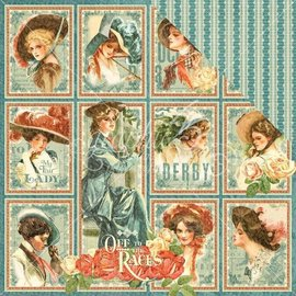 "GRAPHIC 45 Cartes et papier de scrapbooking, 30,5 x 30,5 cm, ""My Fair Lady"""