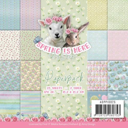 """Karten und Scrapbooking Papier, Papier blöcke Karten und Scrapbooking Papier, """"Spring is here"""""""