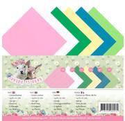 "Karten und Scrapbooking Papier, Papier blöcke Carte e carta per scrapbooking, carta di lino della collezione ""La primavera è qui"""