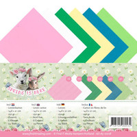 """Cards and scrapbooking paper, linen paper from the collection """"Spring is here"""""""