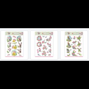 AMY DESIGN 3 feuilles A4 prédécoupées différentes: le printemps est arrivé