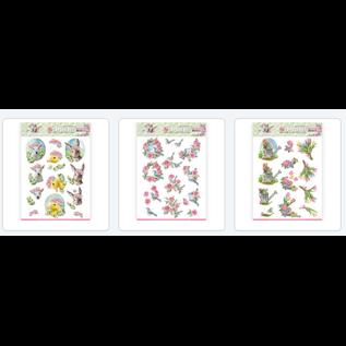AMY DESIGN 3 forskjellige forhåndsskårne A4-ark: våren er her