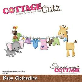 Cottage Cutz cutting dies,  Baby Clothesline
