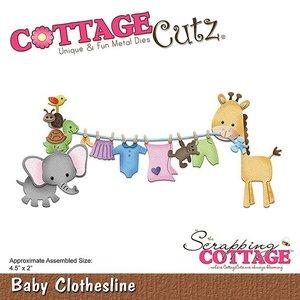Cottage Cutz Stanzschablonen, Baby Wäscheline