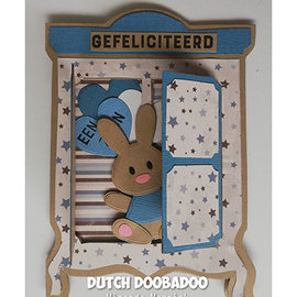 Dutch DooBaDoo Plast skabelon: Kort Art