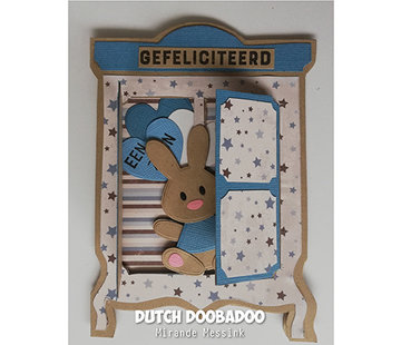 Dutch DooBaDoo Plastic sjabloon: kaart Art