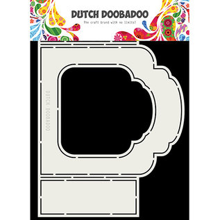 Dutch DooBaDoo Plastic stencil: Fold Card art label Barok