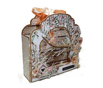 Dutch DooBaDoo Pochoir en plastique: étiquette d'art Fold Card Barok