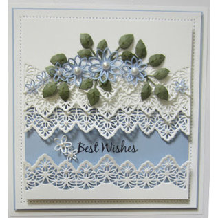 CREATIVE EXPRESSIONS und COUTURE CREATIONS Snij en embossing mal: madeliefjes