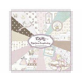 Karten und Scrapbooking Papier, Papier blöcke DayKa, papel para tarjetas y bloc de notas, 20 x 20 cm, bebé