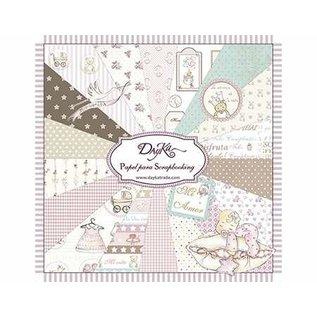 Karten und Scrapbooking Papier, Papier blöcke DayKa, kaart en scrapbook papier, 20 x 20 cm, baby