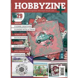 Bücher, Zeitschriften und CD / Magazines Revista: Hobby Zine Plus-29 + Plantilla de perforación adicional y con muchas ideas, fotos y ejemplos de diseño de tarjetas para diferentes ocasiones.