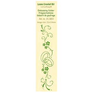 Leane Creatief - Lea'bilities und By Lene Embossing map, border: bruiloft