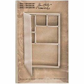 Tim Holtz Tim Holtz, album de livre avec des sujets individuels pour la décoration