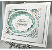 CREATIVE EXPRESSIONS und COUTURE CREATIONS Stanzschablone: Cathedral Background, only few on stock!