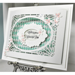 CREATIVE EXPRESSIONS und COUTURE CREATIONS Stamping template: Cathedral Background
