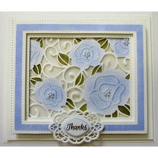 CREATIVE EXPRESSIONS und COUTURE CREATIONS Stamping template: Mini Background - Pierced Roses