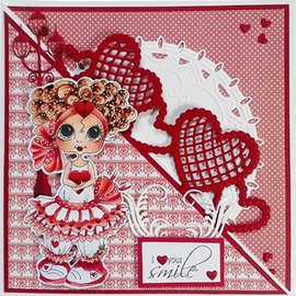 Joy!Crafts / Jeanine´s Art, Hobby Solutions Dies /  Joy Crafts Bordüre mit Herzen