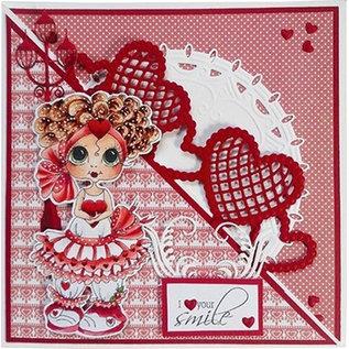 Joy!Crafts / Jeanine´s Art, Hobby Solutions Dies /  Grens met harten, 140 x 51,5 mm