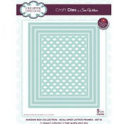 Tonic Studio´s Stansning skabelon, Stansemal:  Creative Expressions Stanzschablone Shadow Box – Scalloped Lattice Frames Set
