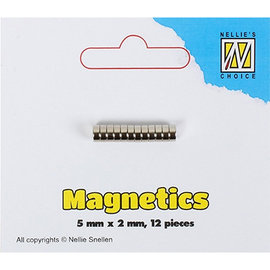 Nellie Snellen 12 mini magneti, 5 x 2 mm