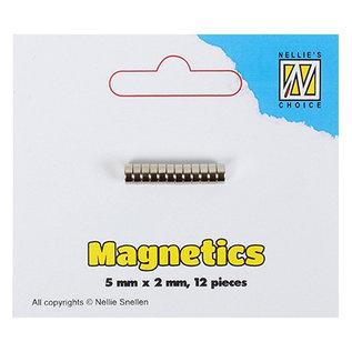 Nellie Snellen 12 Mini Magneten, 5 x 2 mm