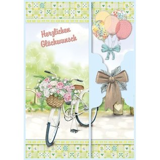 BASTELSETS / CRAFT KITS Birthday card set and other occasions, for 8 cards!