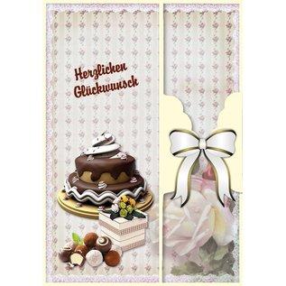 BASTELSETS / CRAFT KITS Bursdagskort sett og andre anledninger, for 8 kort!