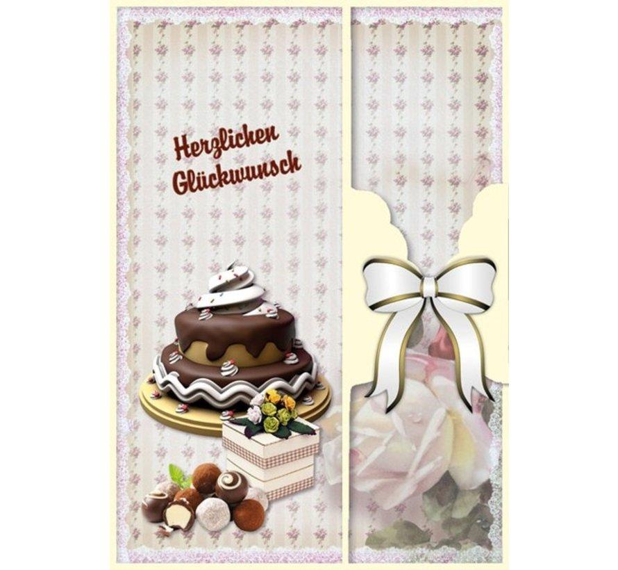 Verjaardagskaart set en andere gelegenheden, voor 8 kaarten!