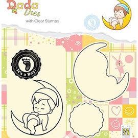 Nellie Snellen Nellie Snellen, stamp motif + punch template, It'sa boy!