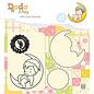 Nellie Snellen Nellie Snellen, stempelmotief +  snijsjabloon, It's a boy!