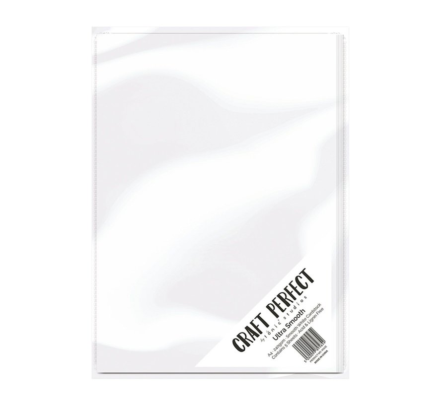 Carton, A4, carte ultra lisse 240g, blanc, 5 feuilles