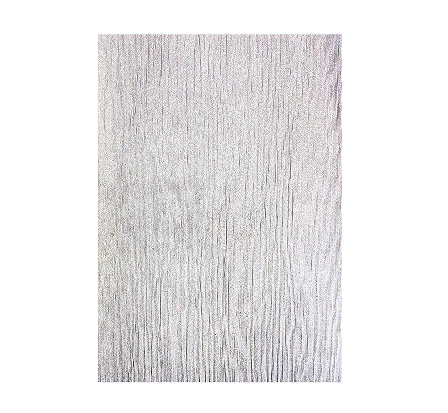 carton gaufré de luxe, 230g, en argent, 5 feuilles