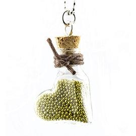 Embellishments / Verzierungen 2 mini glassflasker med kil og henger.