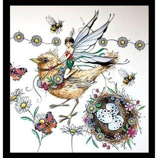 CREATIVE EXPRESSIONS und COUTURE CREATIONS Stempel, A5, vogel magisch mooi!