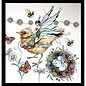 CREATIVE EXPRESSIONS und COUTURE CREATIONS Stamp, A5, bird magically beautiful!