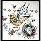 CREATIVE EXPRESSIONS und COUTURE CREATIONS Timbre, A5, oiseau magnifique comme par magie!