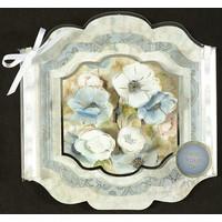 Hunkydory luksuskort til forskellige lejligheder til design af kort, blomster i flotte vindueskort med sølv effekt!