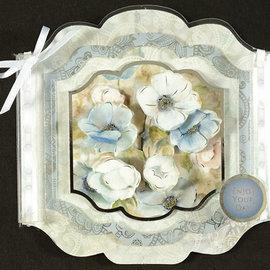 Hunkydory Luxus Sets Conjunto de tarjetas de lujo Hunkydory para diversas ocasiones, para el diseño de tarjetas, flores en tarjetas de gran ventana con efecto plateado.