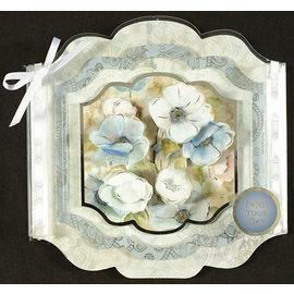 Hunkydory Luxus Sets Set di carte di lusso Hunkydory per varie occasioni, per il design di carte, fiori in grandi carte vetrate con effetto argento!