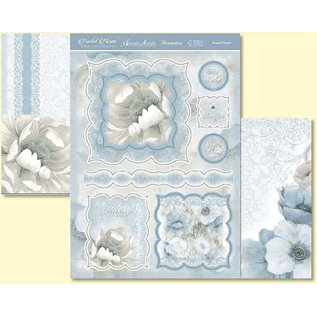 Hunkydory Luxus Sets Hunkydory luxe kaartenset voor verschillende gelegenheden, voor het ontwerp van kaarten, bloemen in grote raamkaarten met zilveren effect!