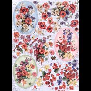 Bilder, 3D Bilder und ausgestanzte Teile usw... A4 gestanst blad, 3D, bloemen
