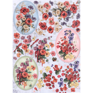 Bilder, 3D Bilder und ausgestanzte Teile usw... A4 punched sheet, 3D, flowers
