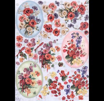 Bilder, 3D Bilder und ausgestanzte Teile usw... Foglio A4 punzonato, 3D, fiori